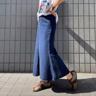 Used Mermaid Denim Long Skirt