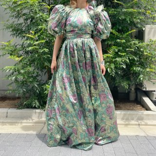 Used Special Metallic Flower Dress