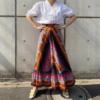 Used Flower Maxi Skirt