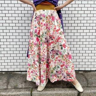 Used Flower Print Jacquard  Long Skirt