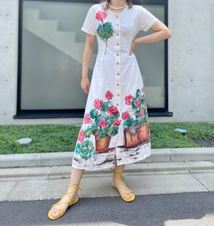 Used Hand Paint Flower Dress