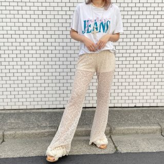 Used Lace Bellbottom Pants