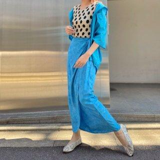 Used Turquoise Tie-dye Wrap Skirt