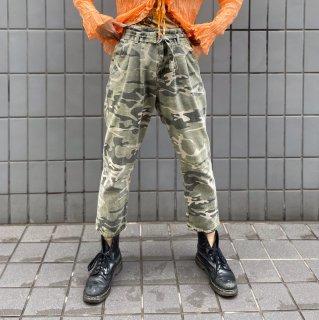 Used Belt Camouflage Pants