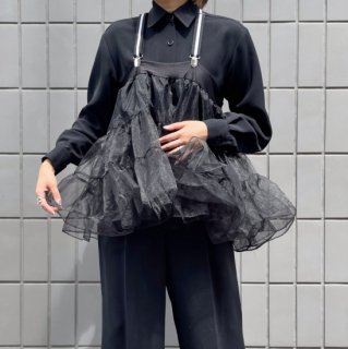 Remake CAN CAN Skirt Suspender Top -BLACK -
