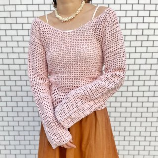 Used Baby Pink Crochet Top