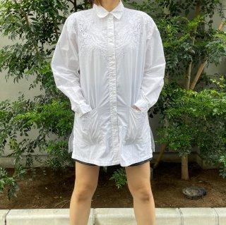 Used White Pocket Long Shirts