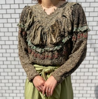 Used Lace Design Top