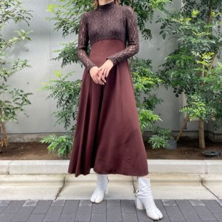 Used Brown Lace Top L/S Dress