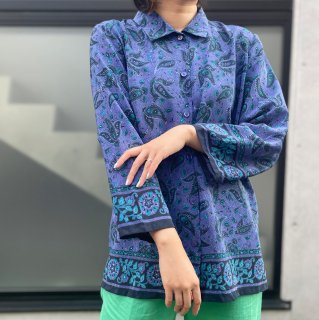 Used Hem Design Paisley Shirts