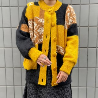 Used Design Mohair Knit Jacket