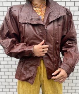 Used Brown Leather Jacket