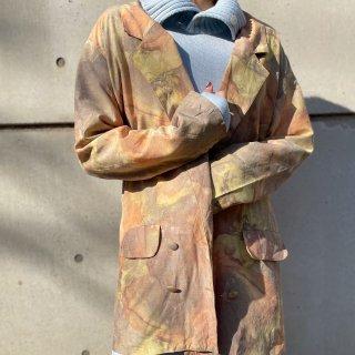 Used Impressionism Print Toilored Jacket