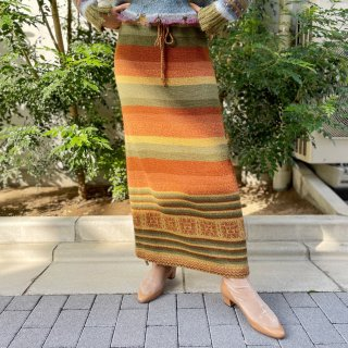 <img class='new_mark_img1' src='https://img.shop-pro.jp/img/new/icons14.gif' style='border:none;display:inline;margin:0px;padding:0px;width:auto;' />Used Multi Border Knit Long Skirt YEL/BRW