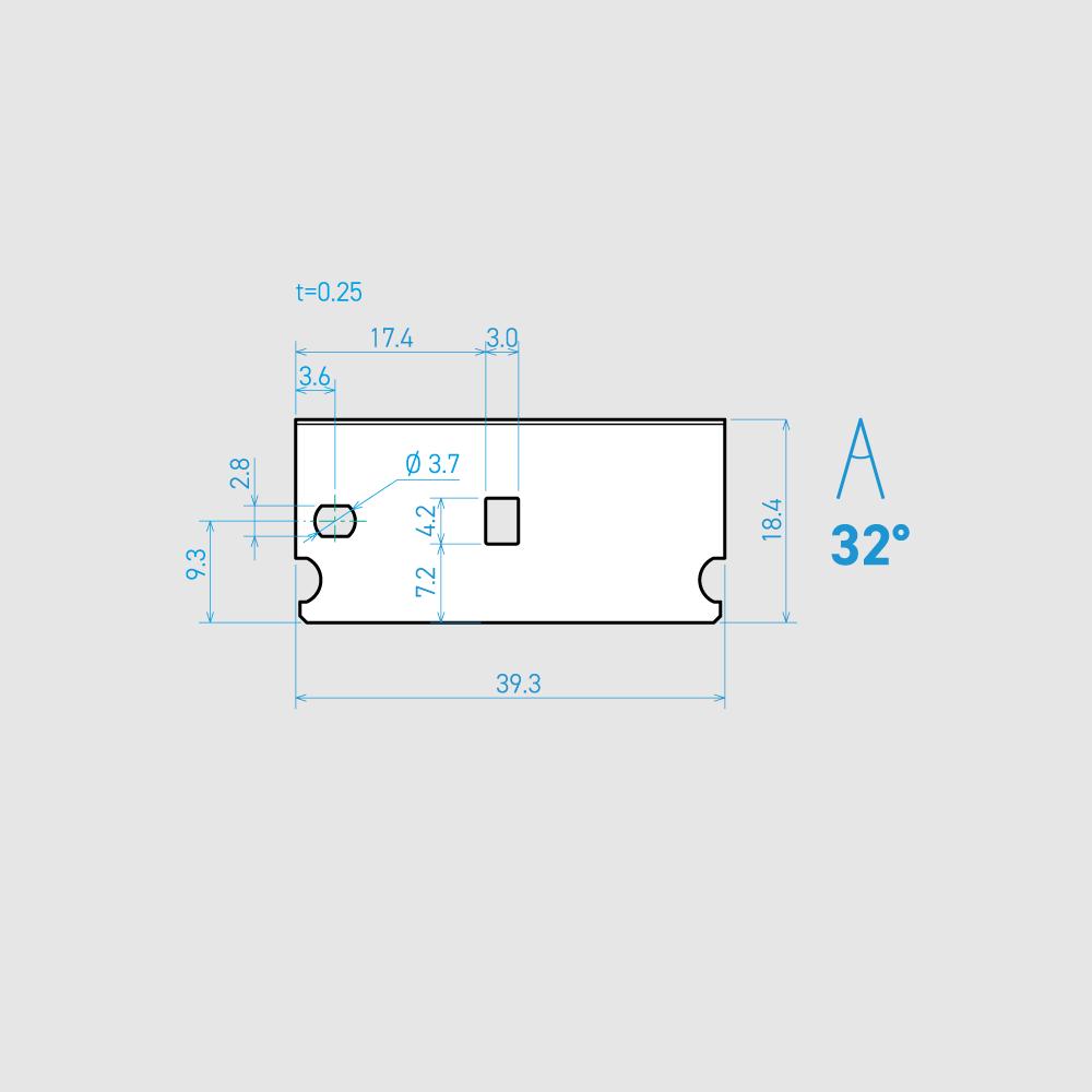 E39-6C-T 32° 炭素鋼(チタンコーティング) 39.3mm 30枚入り