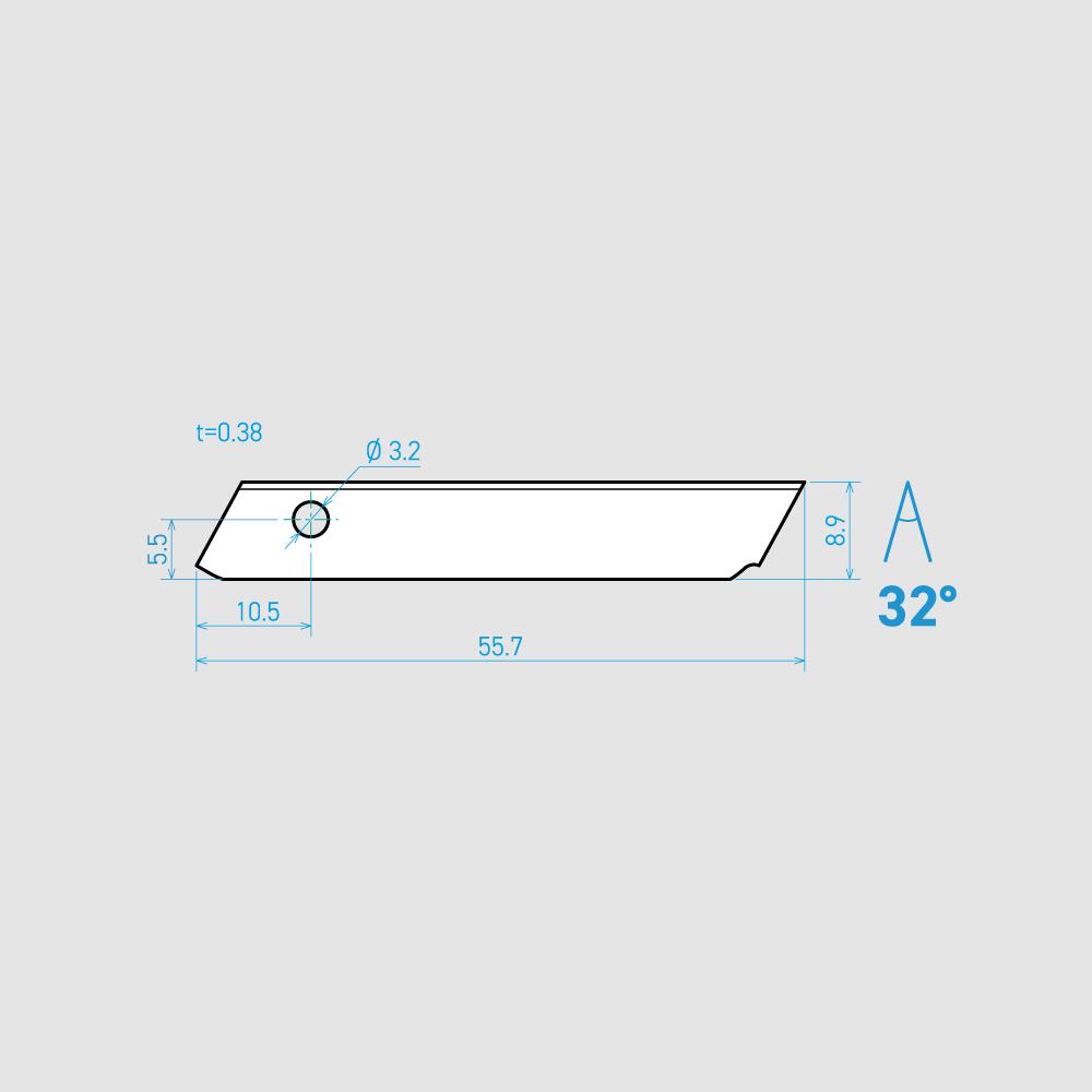 N56-3C 32° 炭素鋼 55.7mm 60枚入り