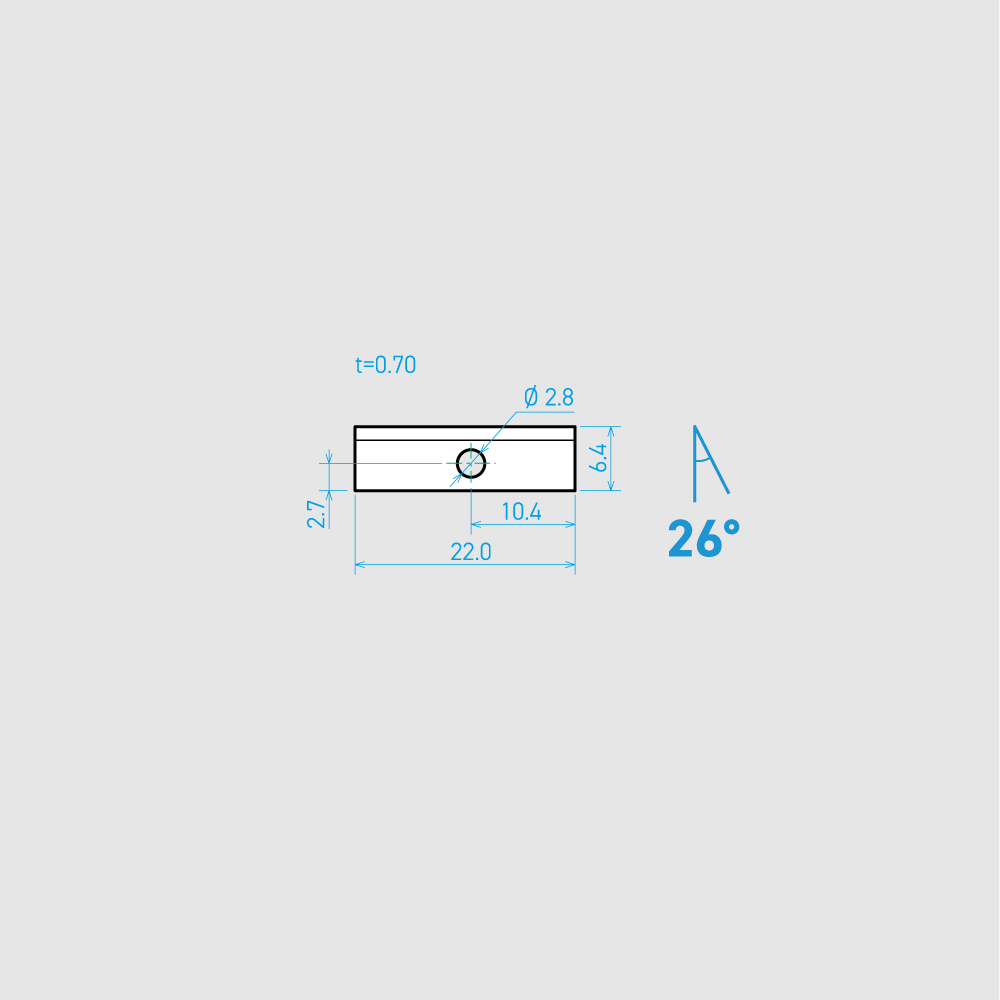 U22-1C 26° 炭素鋼 22mm 60枚入り