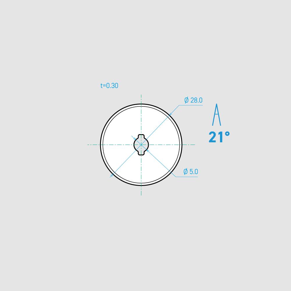 C280-1C 21°  炭素鋼 28mm 10枚入り