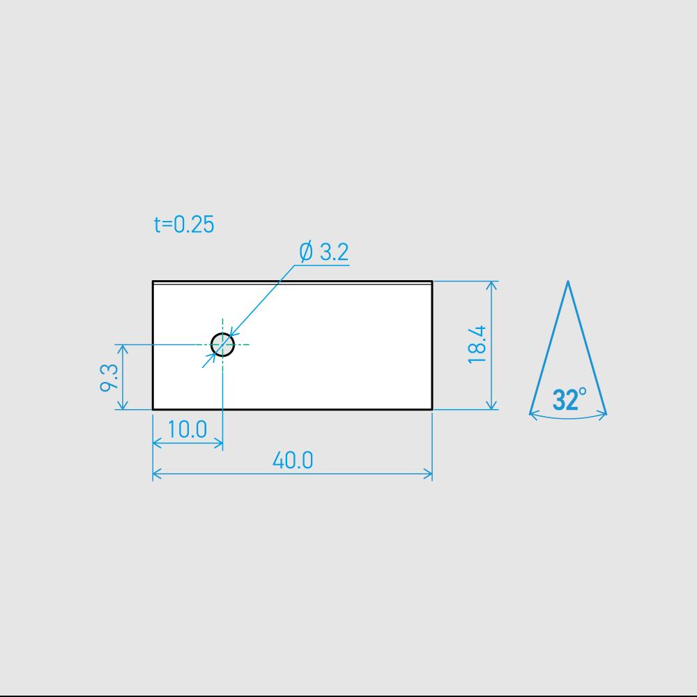 0.25×18.4×40L 32°(50枚セット)