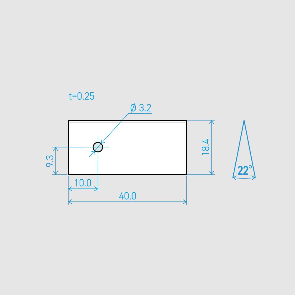 0.25×18.4×40L 22°(50枚セット)