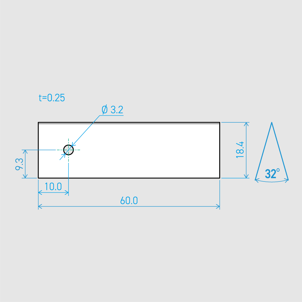 0.25×18.4×60L 32°(50枚セット)