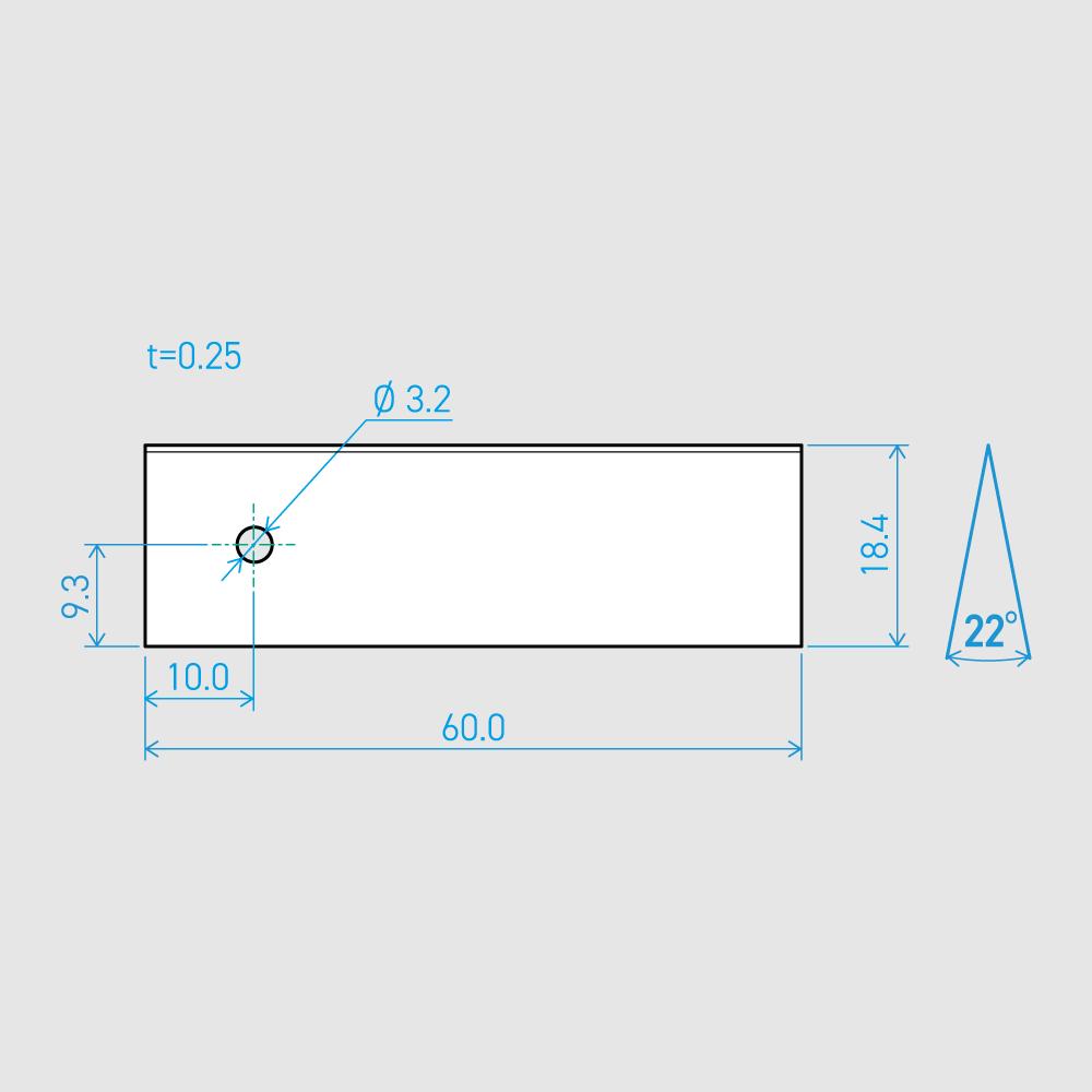 0.25×18.4×60L 22°(50枚セット)