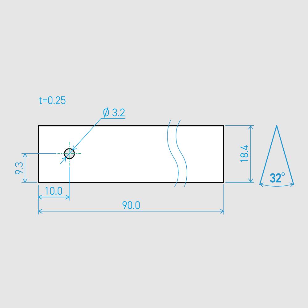 0.25×18.4×90L 32°(50枚セット)
