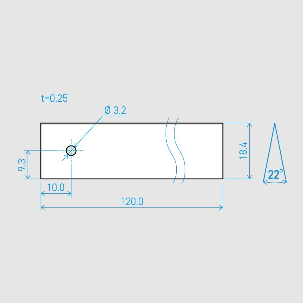 0.25×18.4×120L 22°(50枚セット)