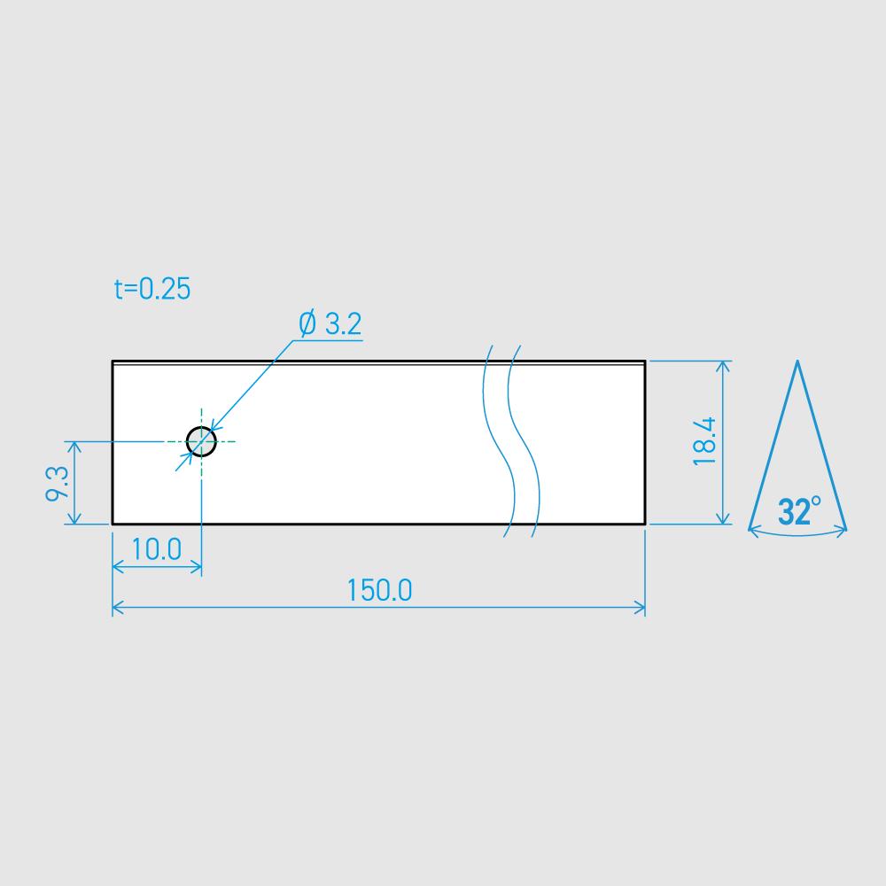 0.25×18.4×150L 32°(50枚セット)