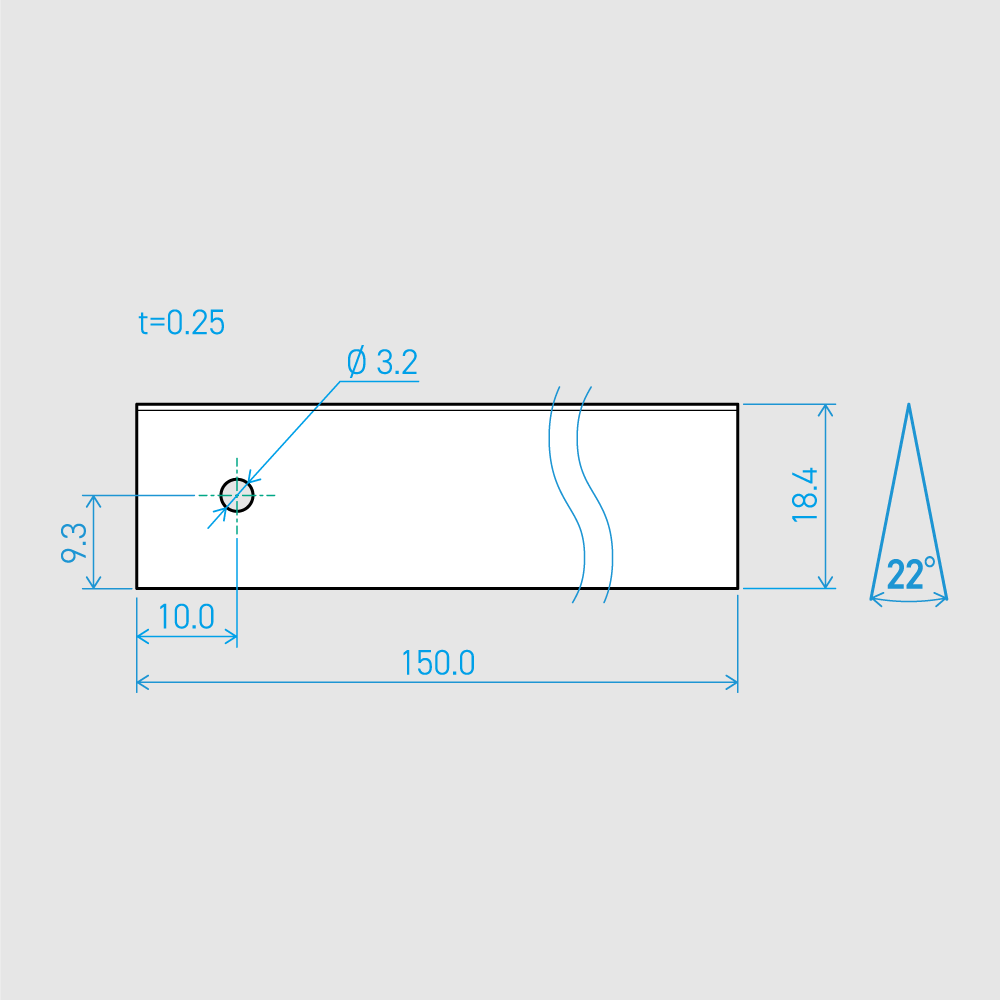 0.25×18.4×150L 22°(50枚セット)