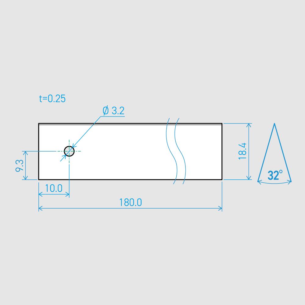 0.25×18.4×180L 32°(50枚セット)