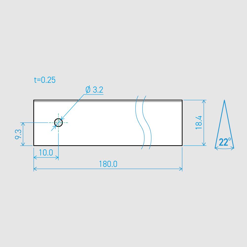 0.25×18.4×180L 22°(50枚セット)