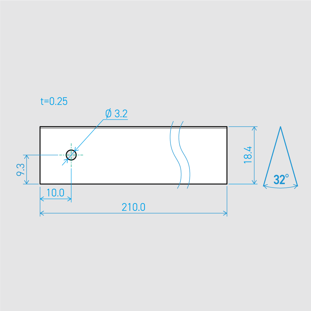 0.25×18.4×210L 32°(50枚セット)