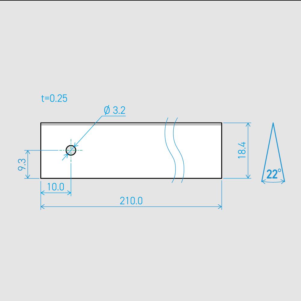 0.25×18.4×210L 22°(50枚セット)