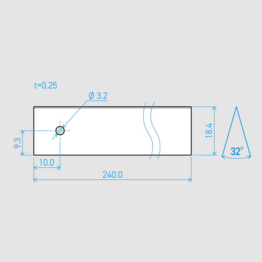 0.25×18.4×240L 32°(50枚セット)