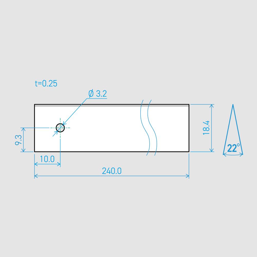 0.25×18.4×240L 22°(50枚セット)