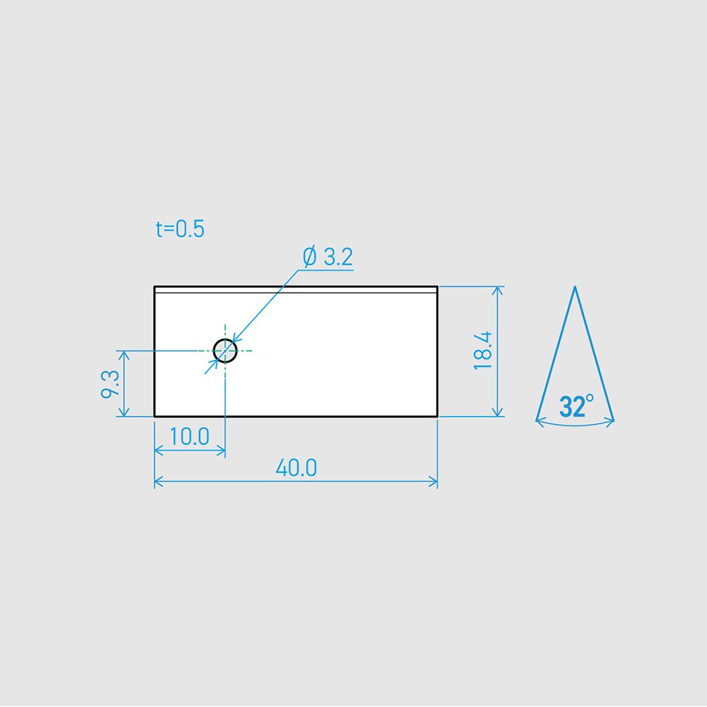 0.5×18.4×40L 32°(50枚セット)