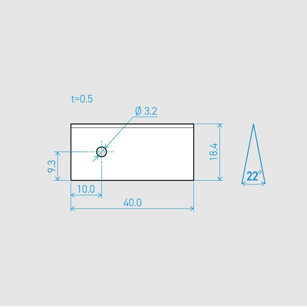 0.5×18.4×40L 22°(50枚セット)