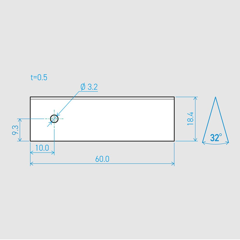0.5×18.4×60L 32°(50枚セット)