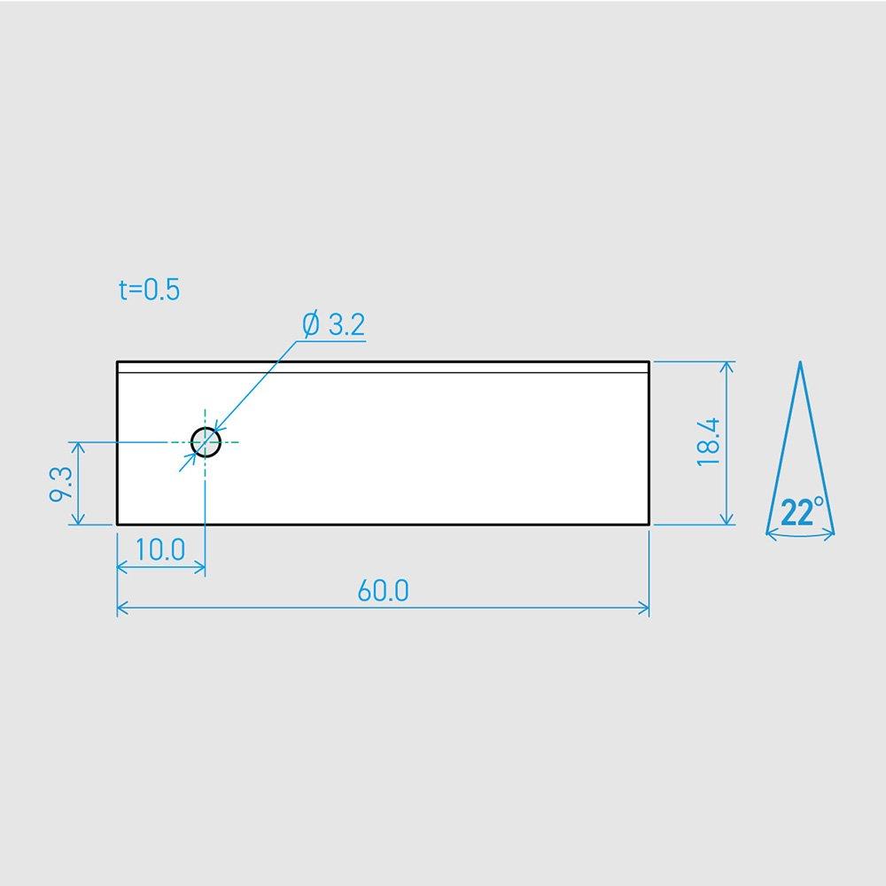 0.5×18.4×60L 22°(50枚セット)