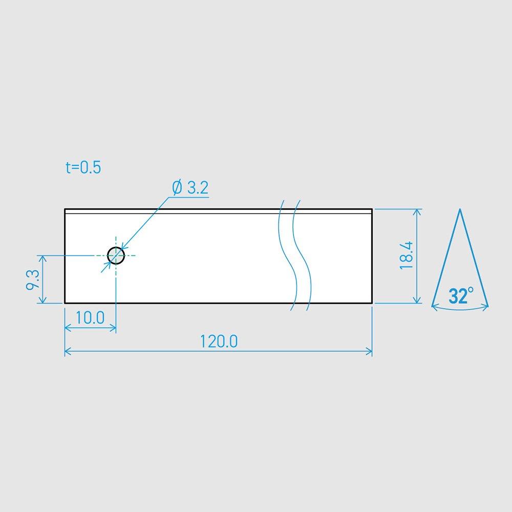 0.5×18.4×120L 32°(50枚セット)