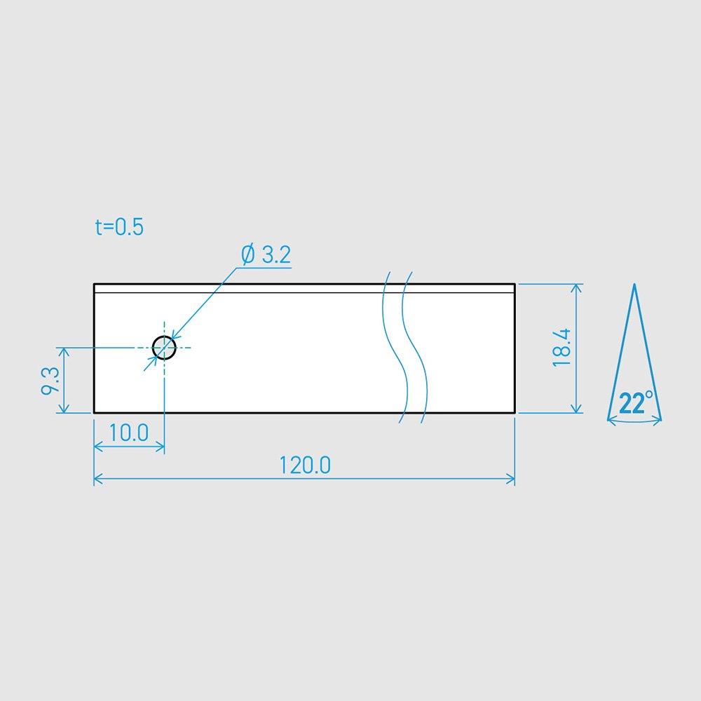 0.5×18.4×120L 22°(50枚セット)