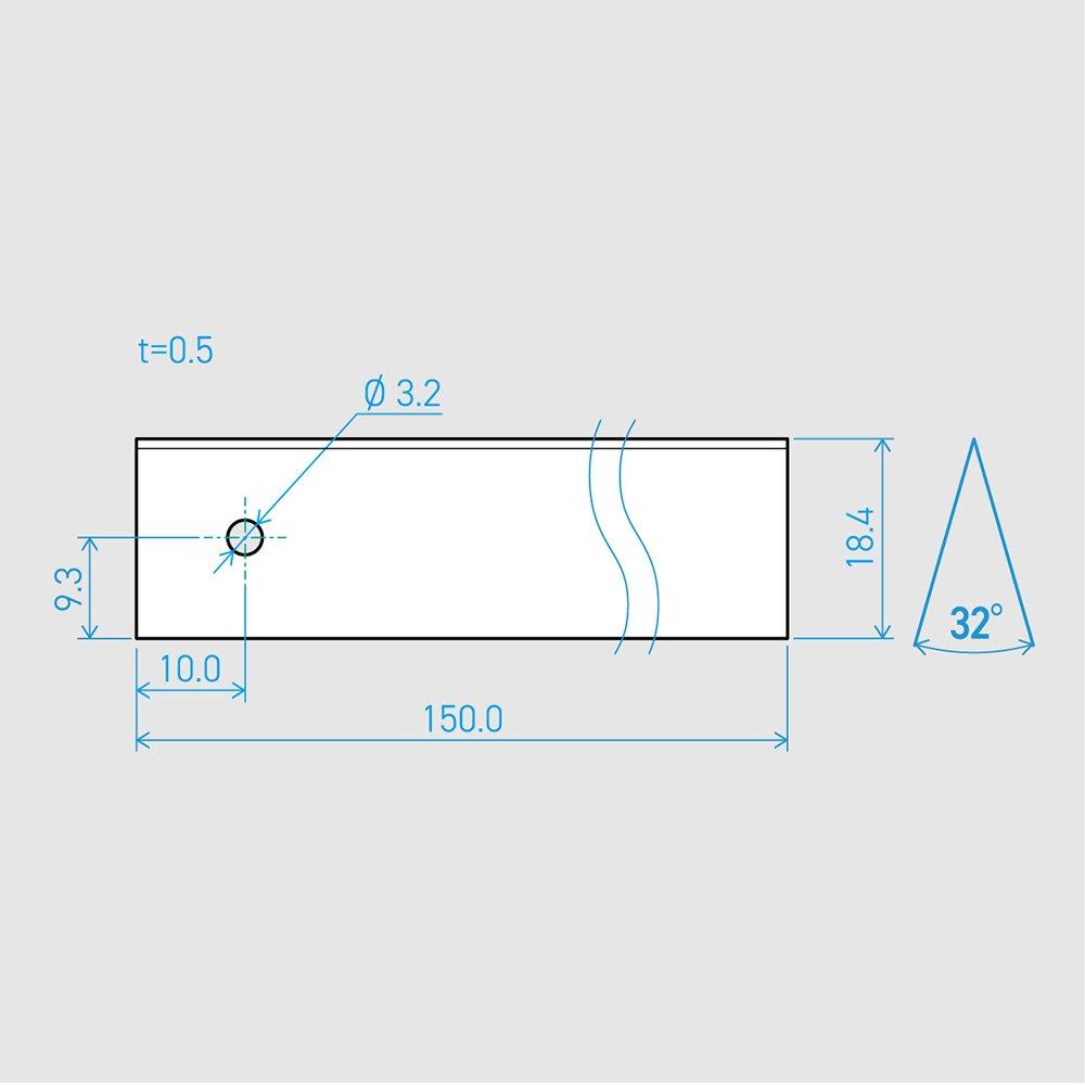0.5×18.4×150L 32°(50枚セット)