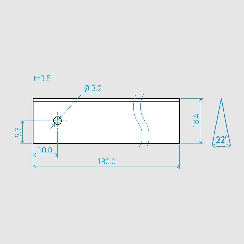 0.5×18.4×180L 22°(50枚セット)