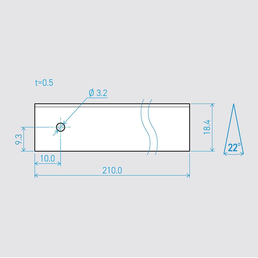 0.5×18.4×210L 22°(50枚セット)