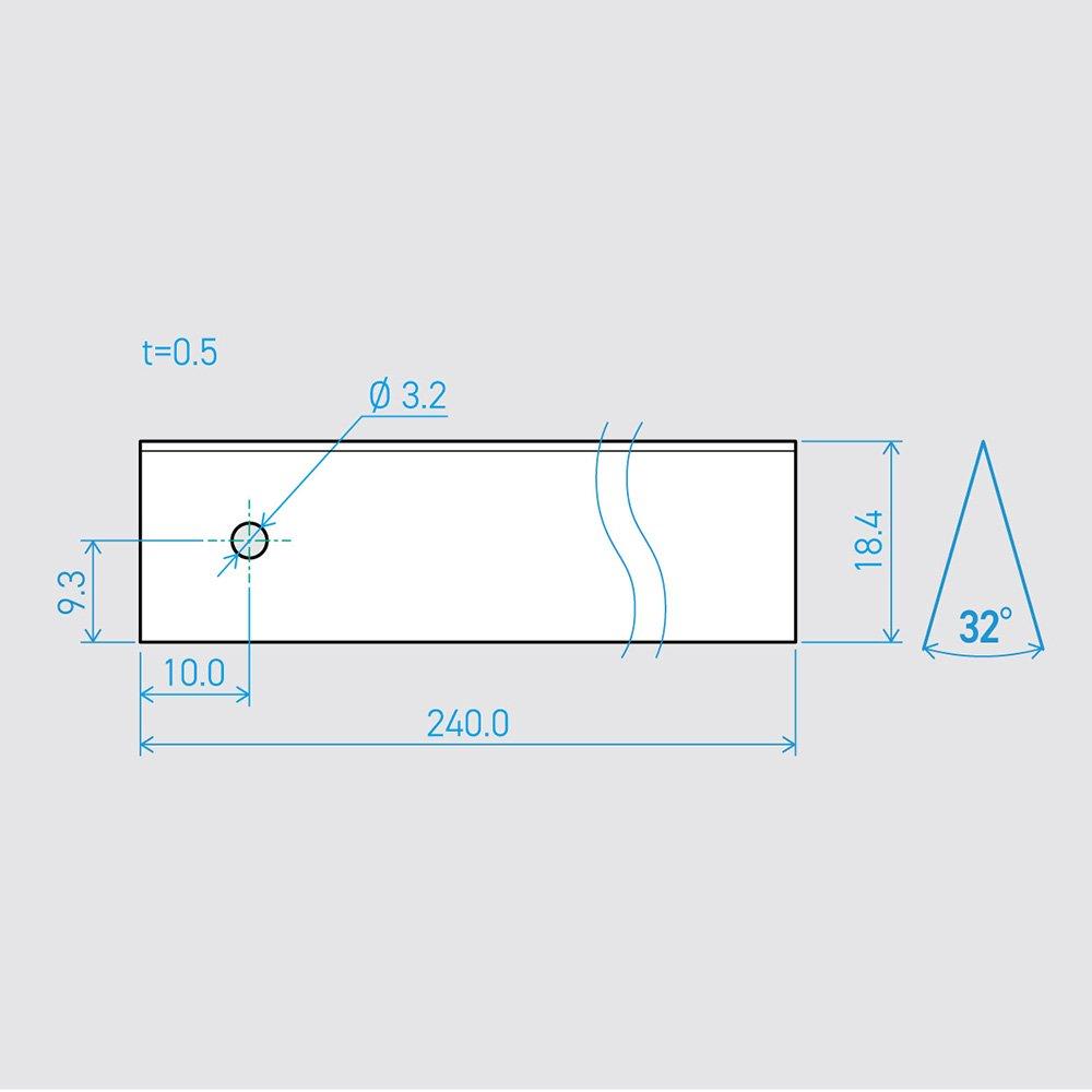 0.5×18.4×240L 32°(50枚セット)