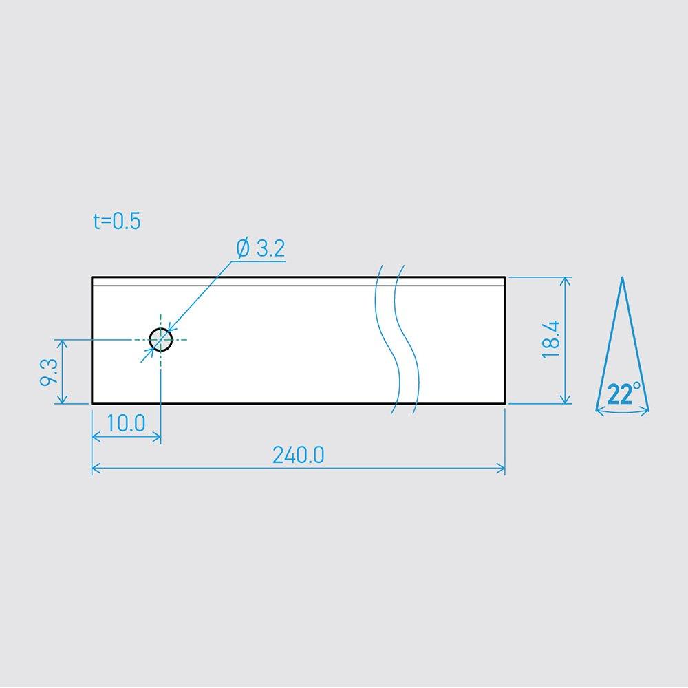0.5×18.4×240L 22°(50枚セット)