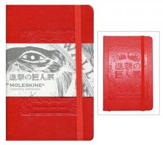 【進撃の巨人】進撃の巨人展 コラボモレスキン手帳 レッド