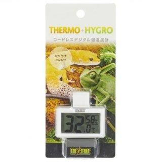 ジェックス エキゾテラ コードレスデジタル温湿度計 取り付け3WAY 飼育用品
