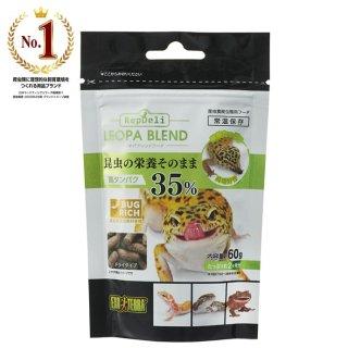 ジェックス エキゾテラ レオパブレンドフード60g 昆虫食 フード
